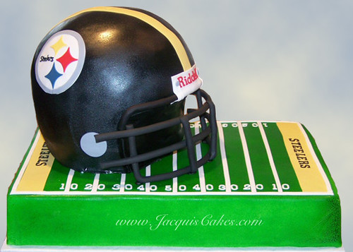 Steelers Football Helmet This 3d Football Helmet Cake