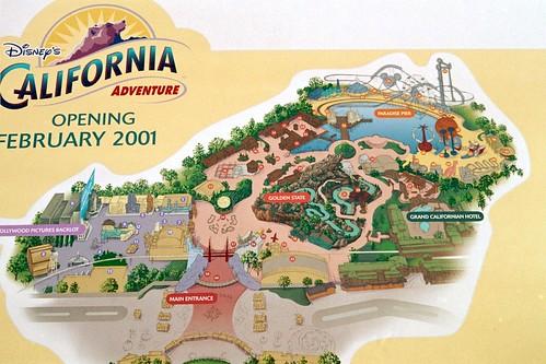 Disney California Adventure Layout Map in 2000 | Flickr - Photo ...