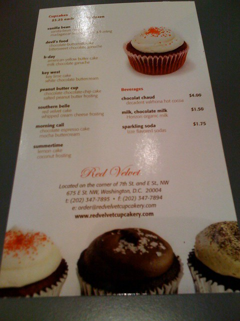 Red Velvet Cupcakery menu | See Cupcakes Take the Cake for ...