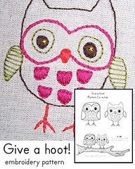 Give a hoot! Embroidery Pattern | by amylcluck