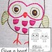 Give a hoot! Embroidery Pattern