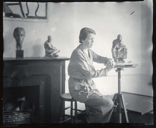 Doris Caesar, American sculptor, 1892-1971, in her studio | by Smithsonian Institution