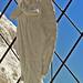 2005_05_09_Athen_Lycabettos_Statue i trappen ved kapellet