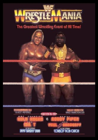 wwf wrestlemania i 1985 poster the first major