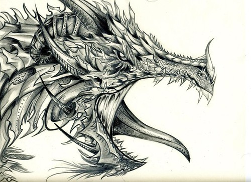 Dragon head | The only thing I used was a #2 pencil and a ...