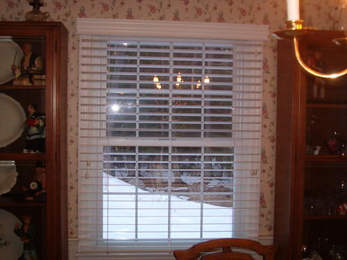 white wood blind outside mount by budget blinds of martinsburg west