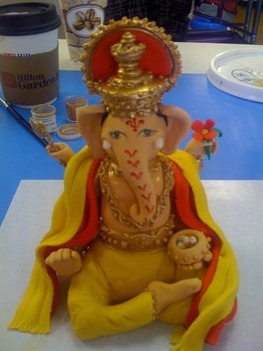 Ganesha Cake Images : Ganesh This is from my Indian Wedding Cake class with ...