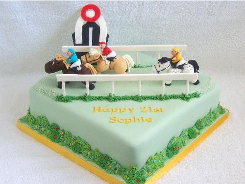 horse racing cake Horse racing cake, 3 free standing ...