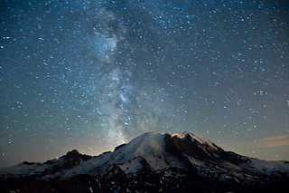 Milky Way over Mt. Rainier | by David M Hogan