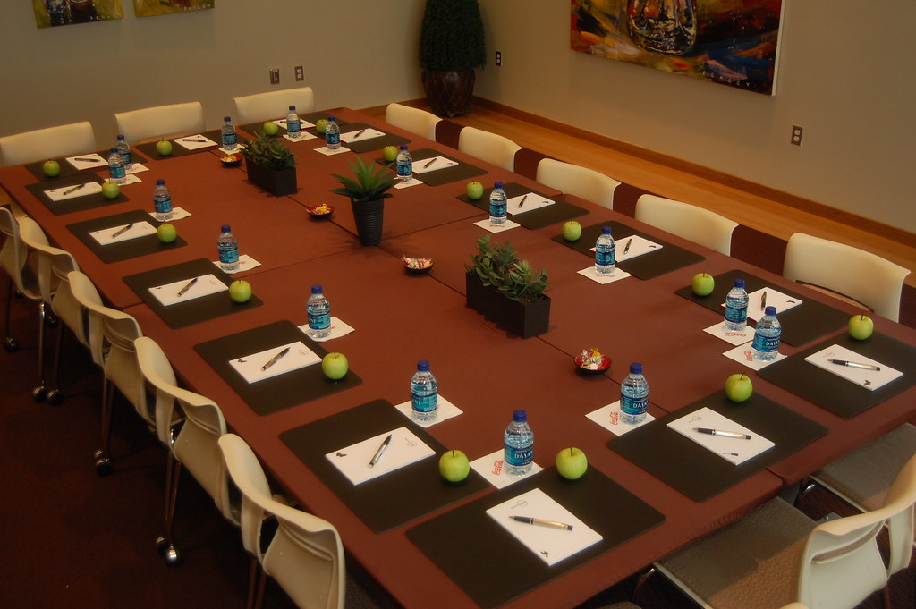 Board Room Table Set Up