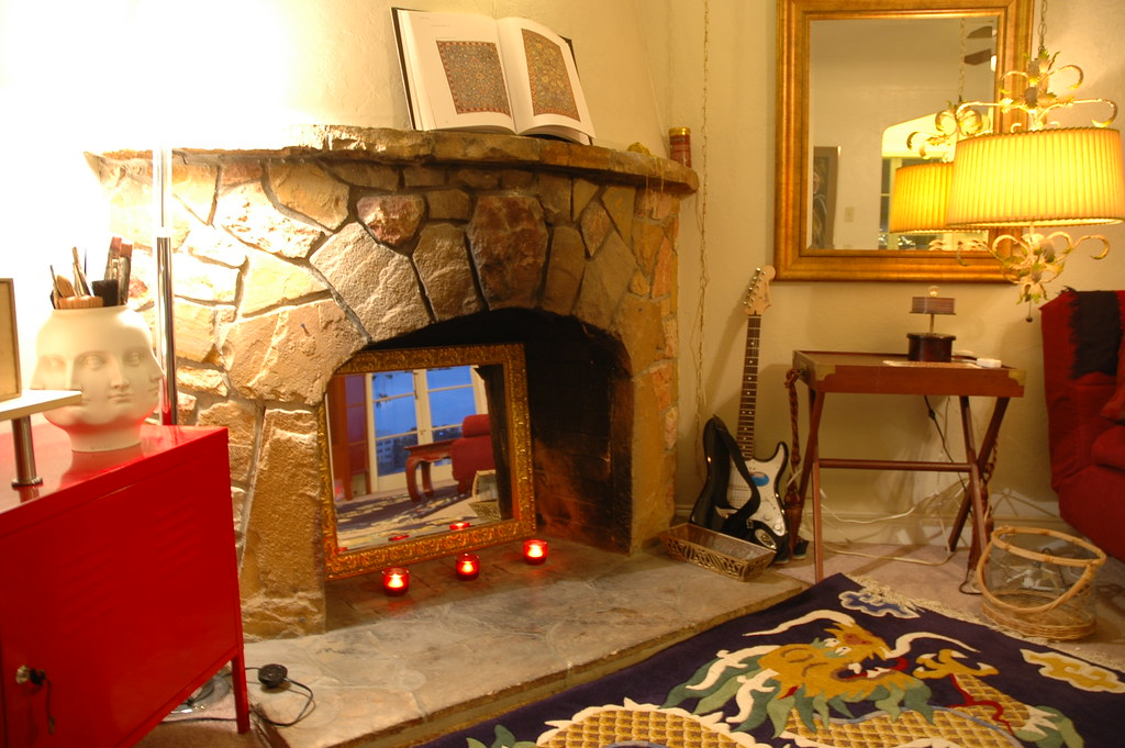 Livingroom old west style curved fireplace, San Mateo, Cal… | Flickr