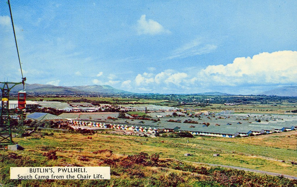 Butlins Pwllheli South Camp From Chair Lift A 1960s