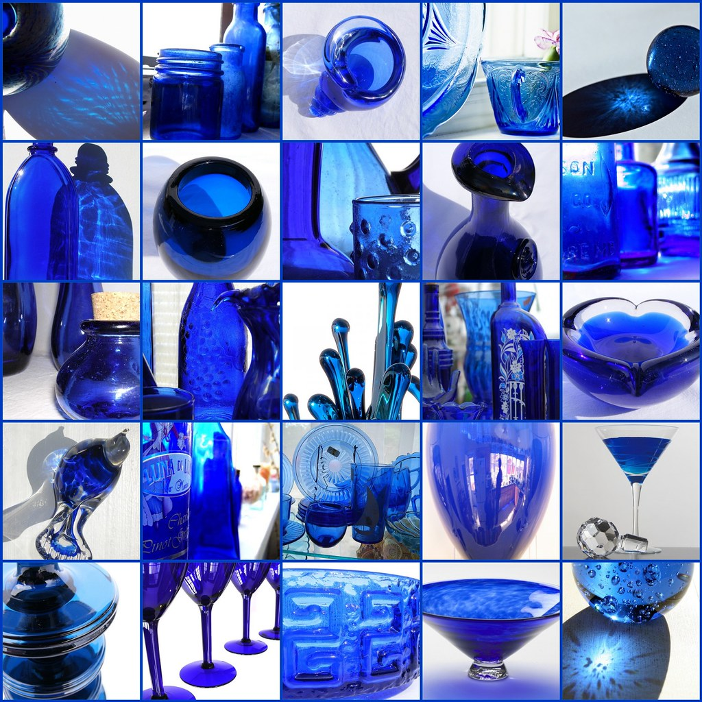 Cobolt blue glass favorites all the these photographs - Cobalt blue bathroom accessories ...