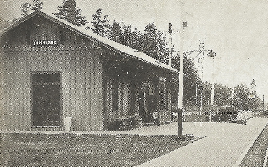 Depot Topinabee Mi 1909 Michigan Central Railroad Depot An
