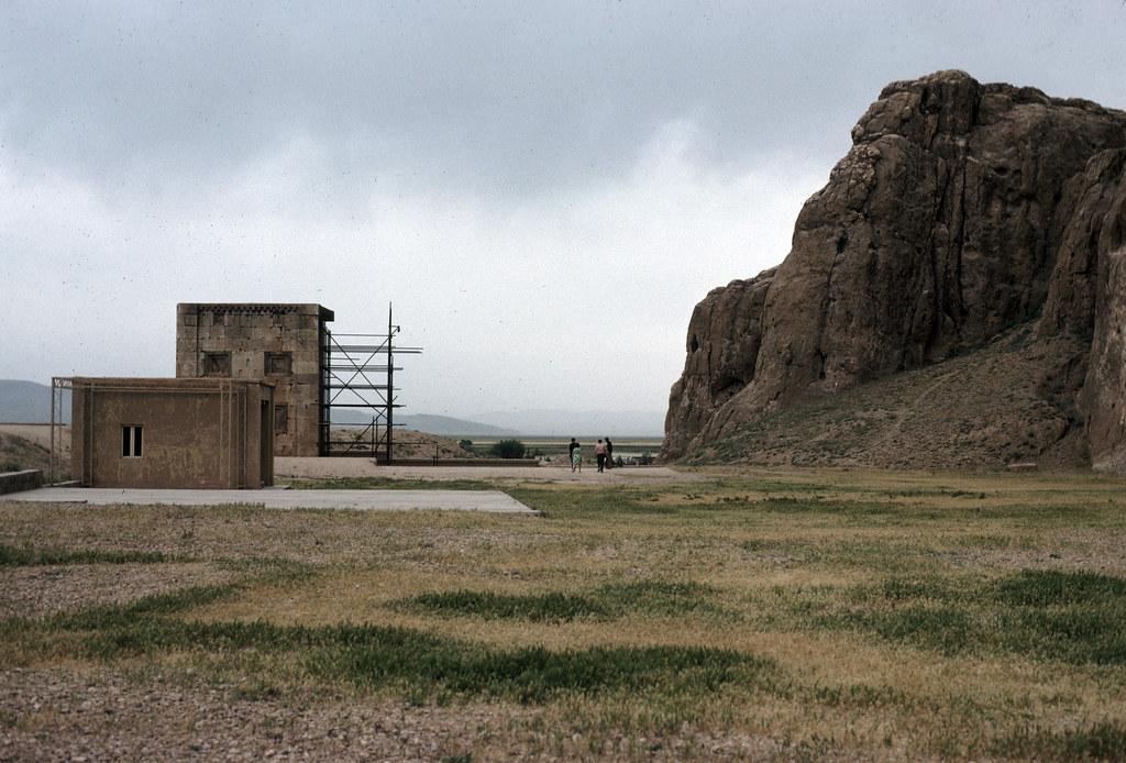 naqsh i rustam fire temple general view title naqsh i