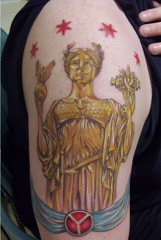 Statue Of The Republic Tattoo With The Municipal Device An Flickr