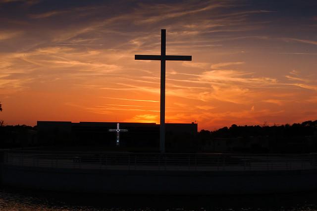 Two Cross Sunset Trinity Baptist Jacksonville Fl Don