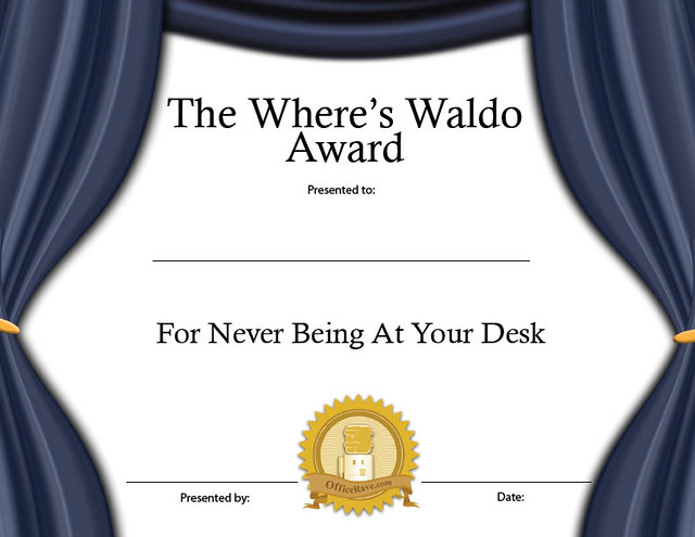Printable Certificates Where S Waldo Funny Award Buy