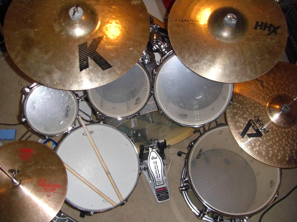 drum set overhead view sumeet barai drums from overhea flickr. Black Bedroom Furniture Sets. Home Design Ideas