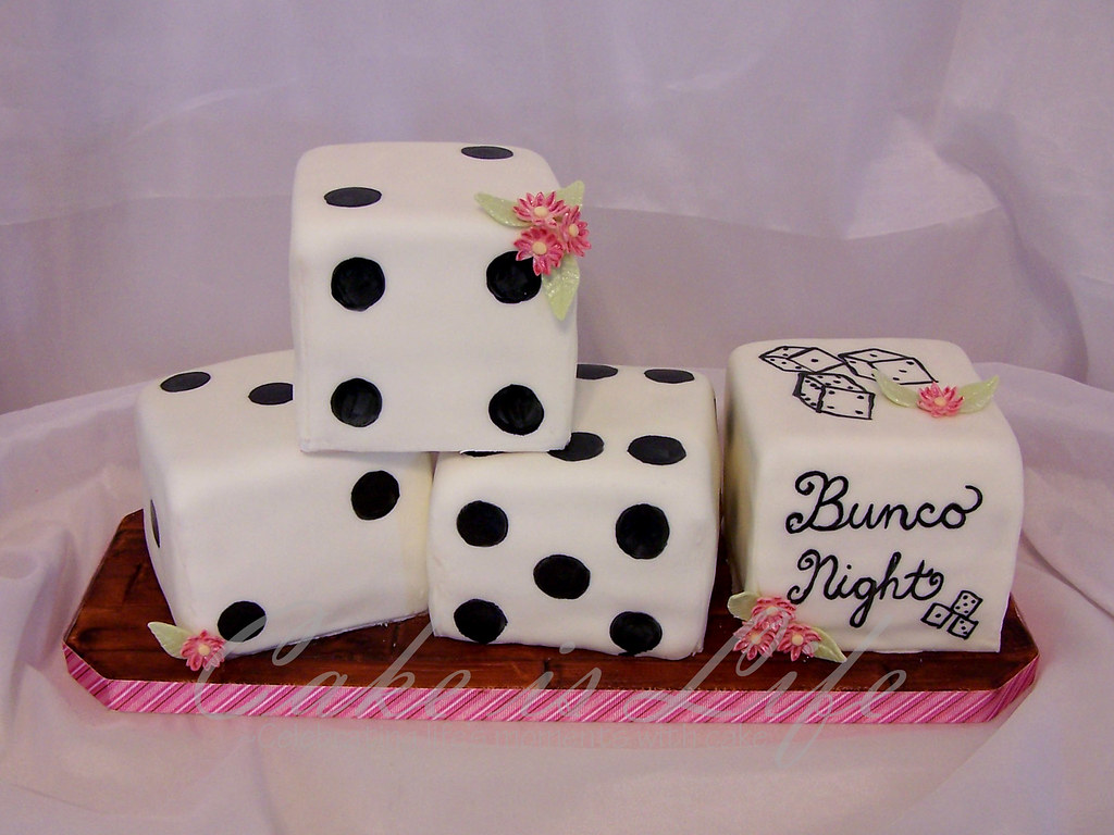 Bunco Dice Cake 08 2009 This Cake Was Ordered By A