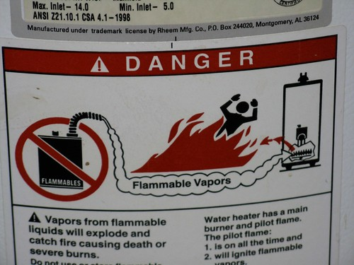 Warning Instant Hot Water : A warning on the hot water heater flickr photo sharing
