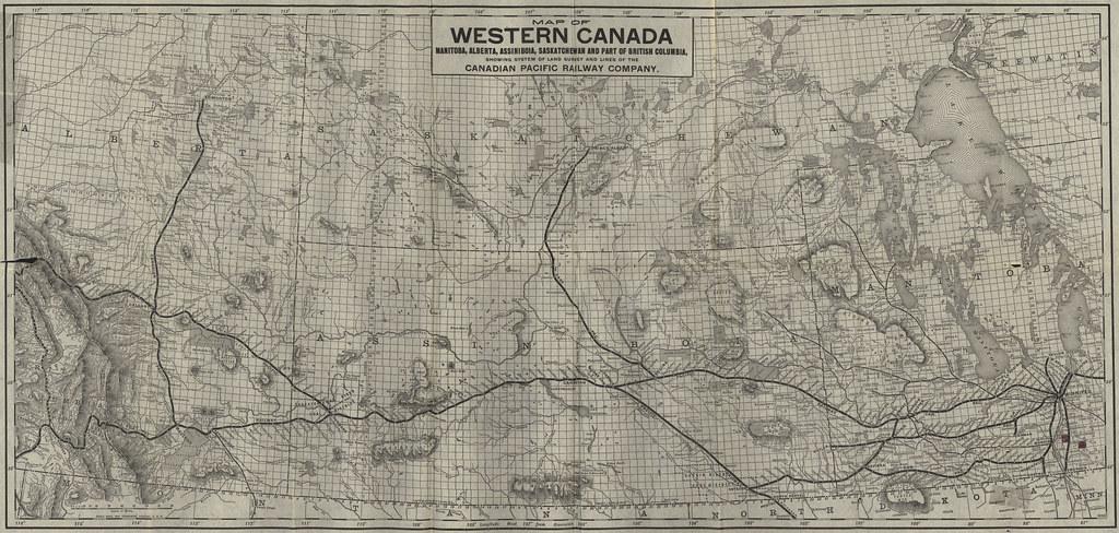 Map Of Western Canada Manitoba Alberta Assiniboia Saska