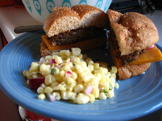 veggie dinnerplate: black bean burgers | by jessica wilson {jek in the box}