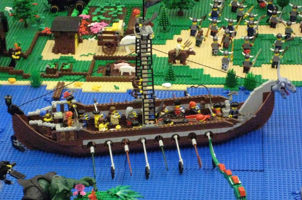 Smelly Lutefisk eating Vikings (yuk)   Lego Viking Ship ...