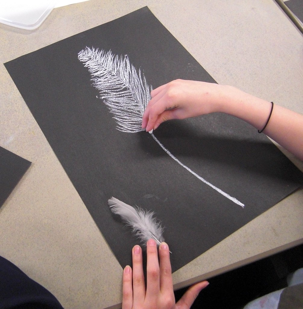 Wet Chalk Drawing And Painting