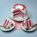 Miniature Pink and White Strawberry Cake