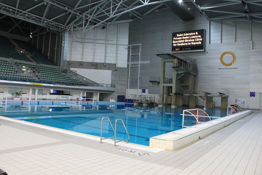 Sydney Aquatic Centre Diving Pool Water Polo Pool Flickr