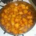 Caramelizing pears
