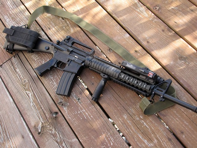 M16A4 ironsights | Since my King Arms ACOG-style scope's ... M16a4 Acog