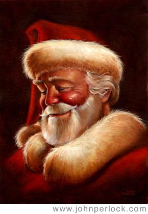 Classic santa claus copyright john perlock 2002 a portrai