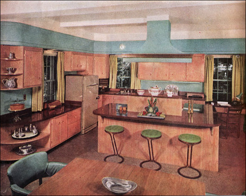 1957 birch turquoise kitchen flickr photo sharing - American home decor property ...