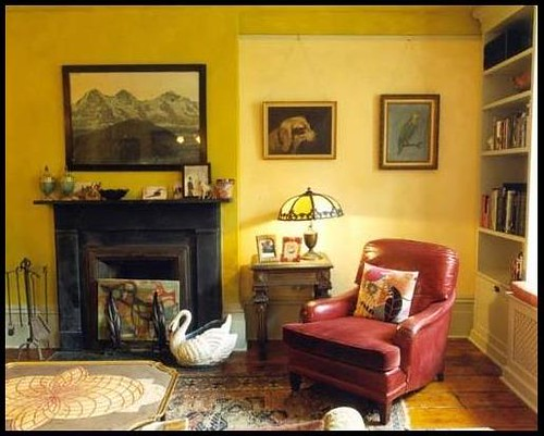 Yellow living room two tone paint by nickey kehoe flickr Two tone paint schemes living room