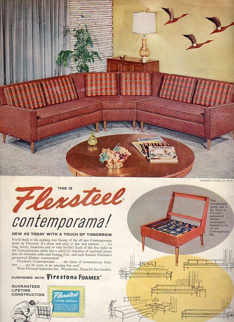 Flexsteel Furniture Ad 1958 From The Summer 1958 Issue