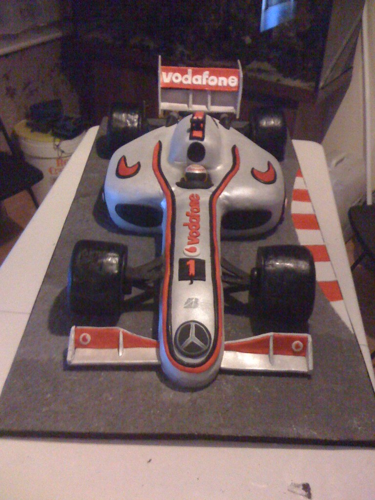 F1 Mclaren Lewis Hamilton Car Cake This Cake Was Made Up
