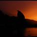 Rialto Beach on fire