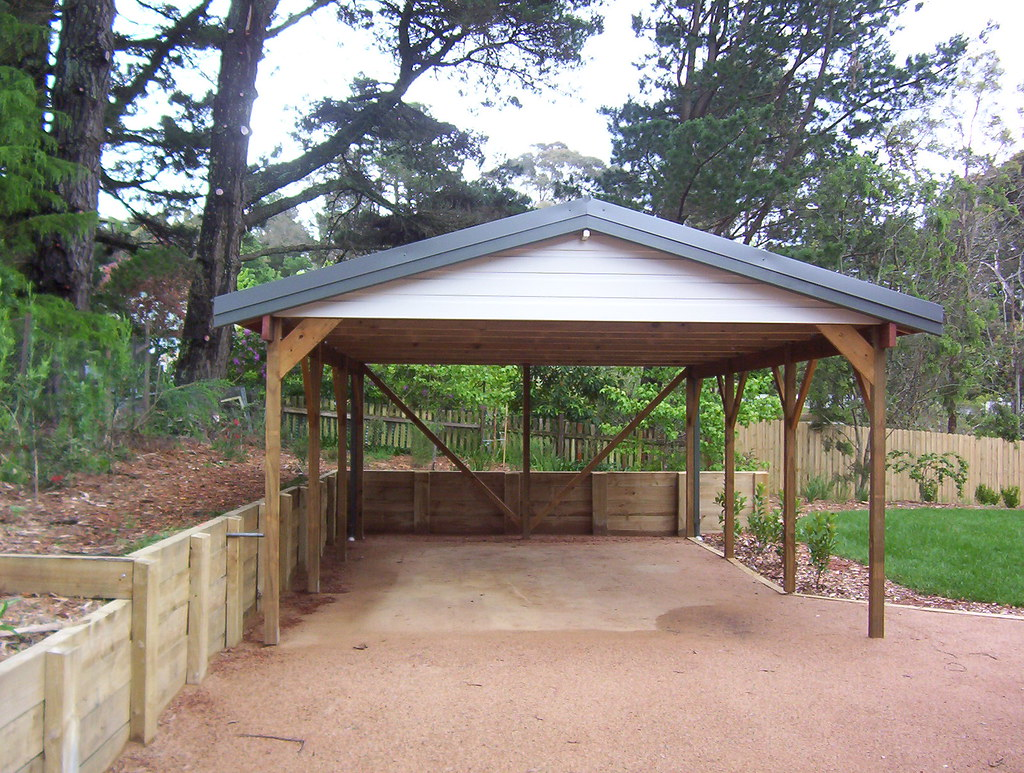 Carport timber gable 74 timber frame carport with gable for Timber carport plans