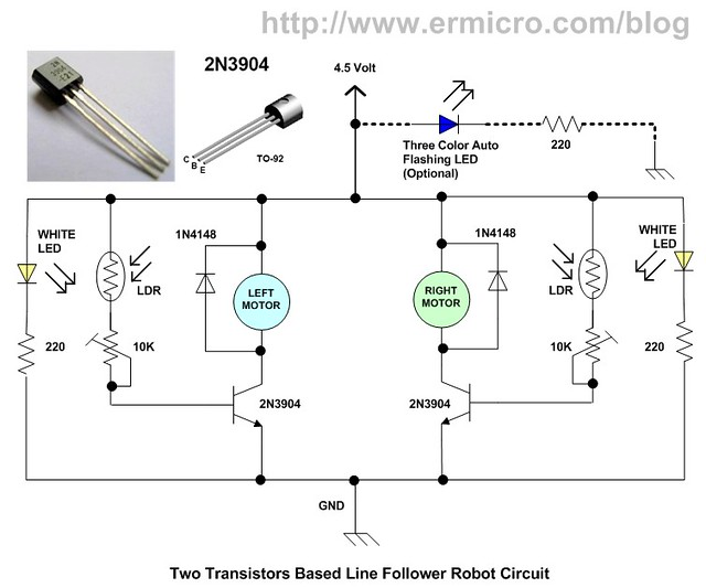Line Follower Robot Circuit Pevnnzfby moreover Line Follower Robot Circuit Without Using Microcontroller also Line Follower Wiring likewise Line Follower Robot also Line Following Robot Using Transistors. on line follower robot circuit