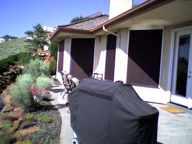 Outdoor Solar Shades Motorized Custom Installation Of