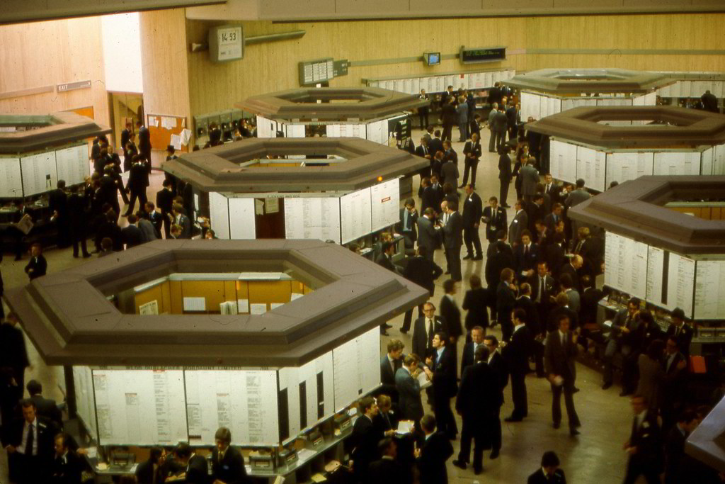 London Stock Exchange Trading Floor 1975 View From The