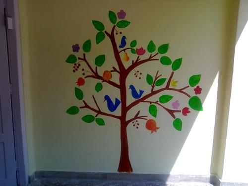 Tree of life wall mural kalpavriksam tree of life for Creating a mural