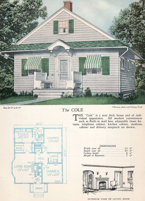 1928 home builders catalog the cole from the for American house plans free