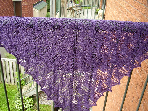 purple moth shawl | by ikklekniter