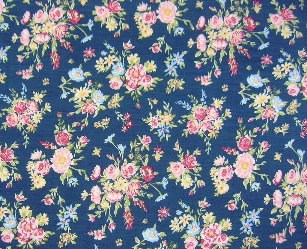 Liberty of London Fabric- Navy and Pink Floral | Leslie ...