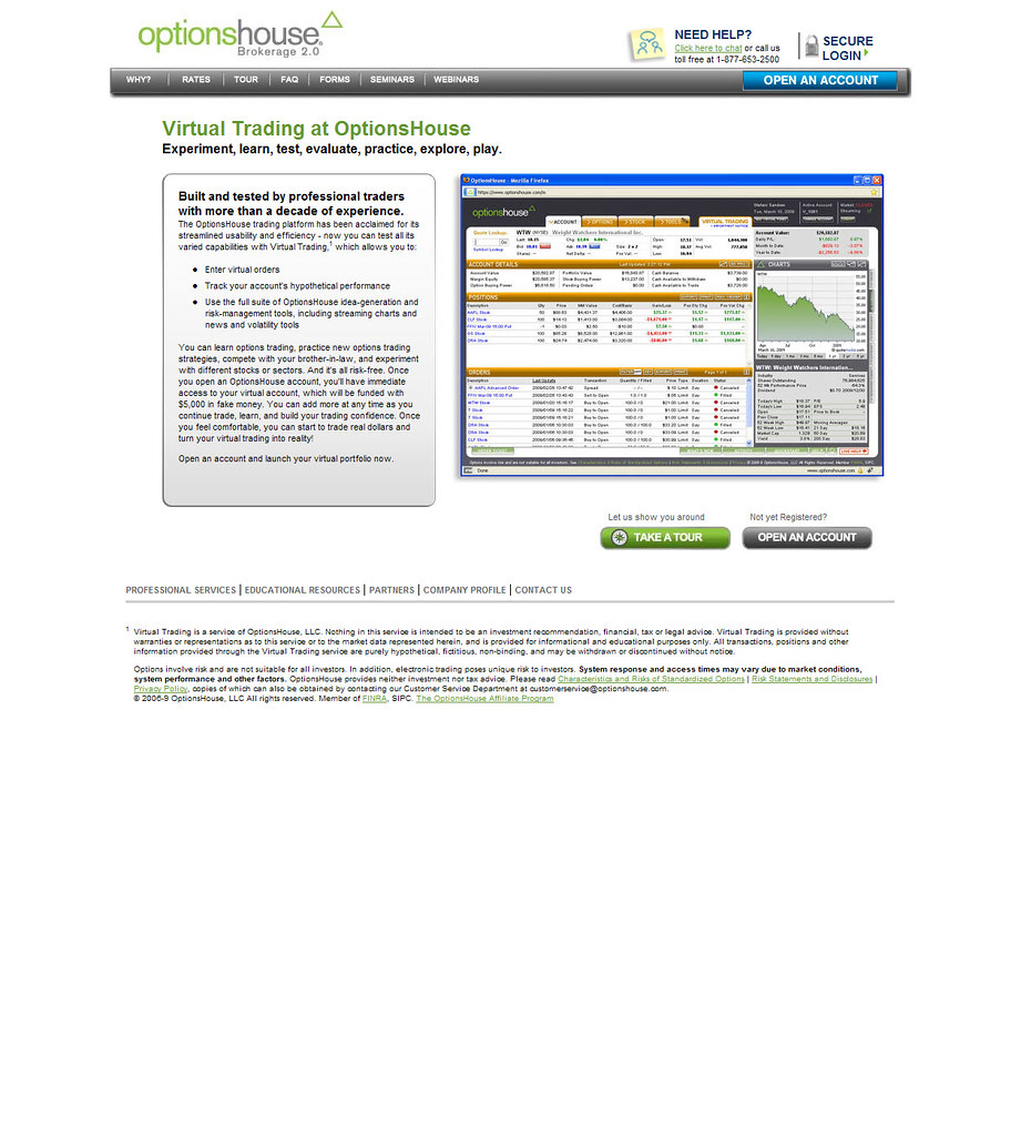 Optionshouse virtual trading platform optionshouse llc for Option house com