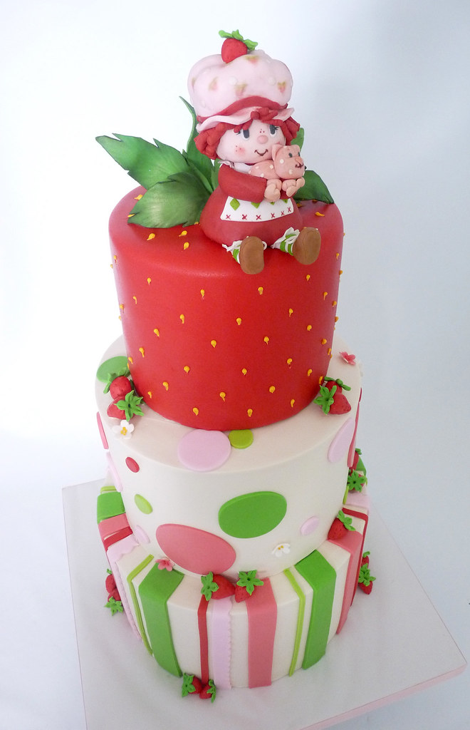Strawberry Shortcake Cake Buttercream Tiers With