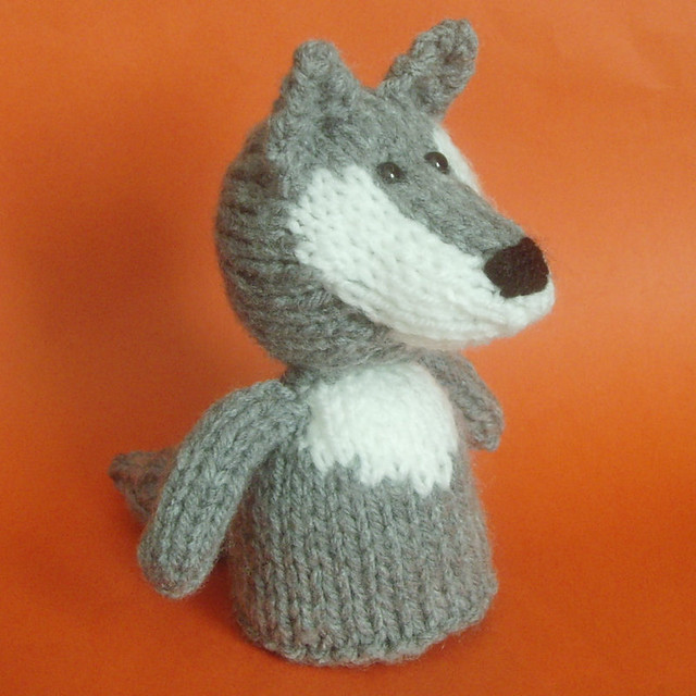 Wolf Knitting Pattern : Jelly Bum Wolf A little knitted amigurumi wolf. Comes with? Flickr